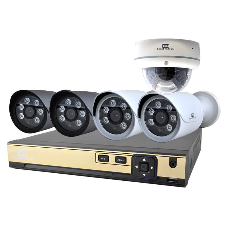SC-XA45K-SecuSTATION-AHD-防犯カメラセット-BESTLABO