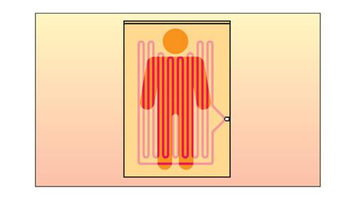 頭寒足熱設計 電気毛布