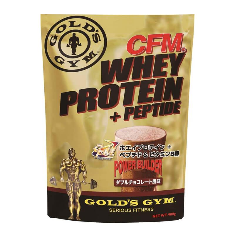 CFMホエイプロテイン ダブルチョコ 900g ゴールドジム GOLD'S GYM