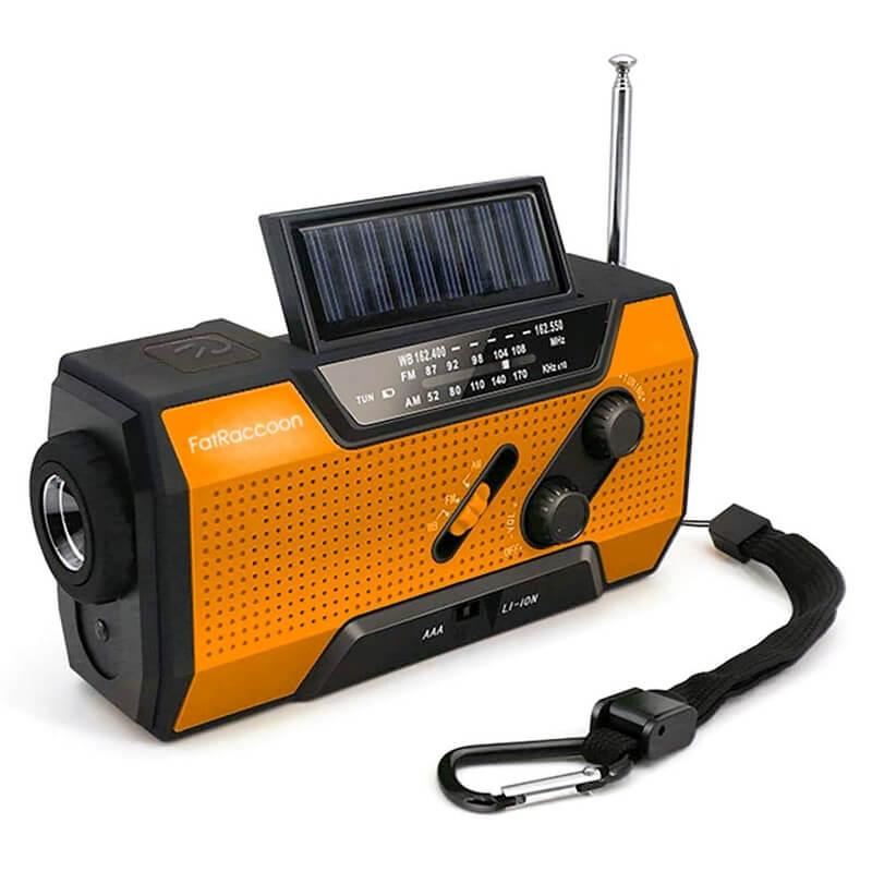 防災ラジオ 手回し・ソーラー充電付き ウエイク WAKE