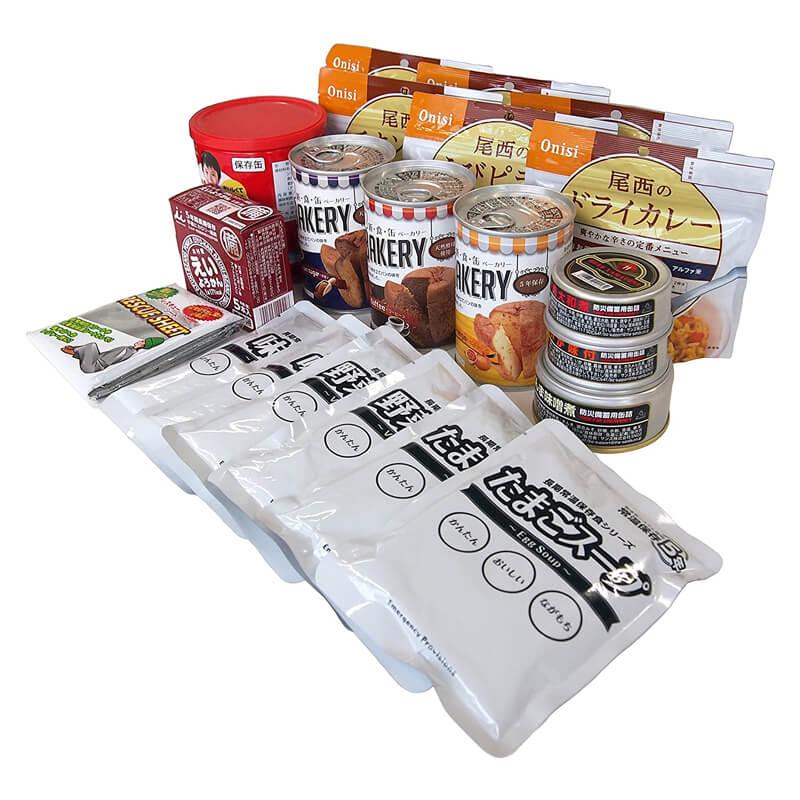 常食セット 3日間満足セット 18種類21品 防災のサイボウ