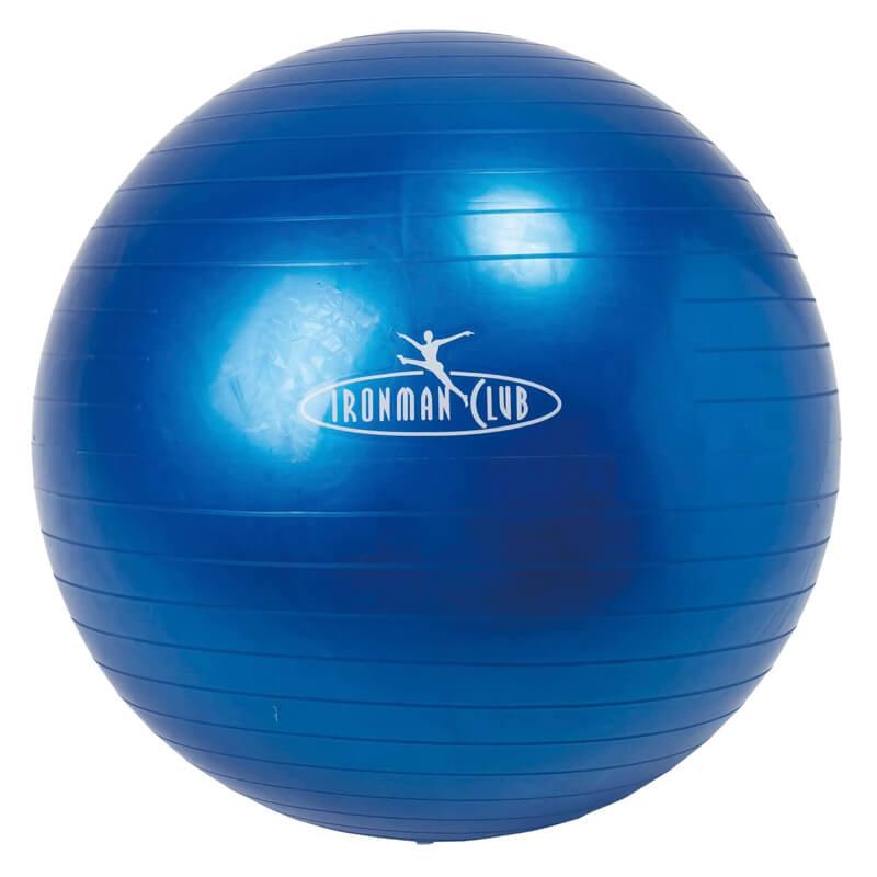 バランスボール ヨガボール 55cm ダブルアクションエアポンプ付き 鉄人倶楽部 IRONMAN CLUB