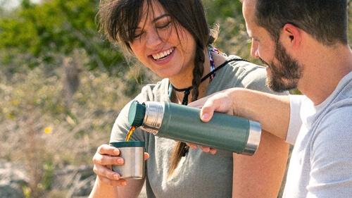 水筒 ステンレスボトル コップ付きタイプ お好みの温度に調節できる