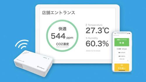 二酸化炭素濃度計 CO2センサーのスマートフォンとの連携機能