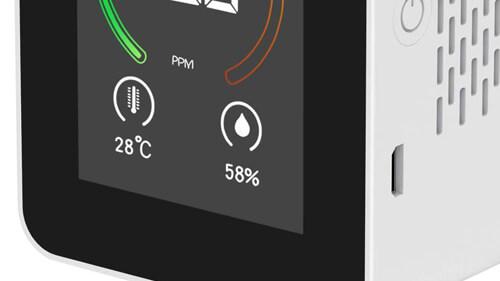 二酸化炭素濃度計 CO2センサーの温度湿度表示機能