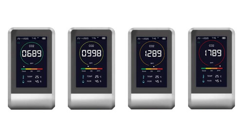 二酸化炭素濃度計 CO2センサーのLEDカラーで濃度を表示してくれると便利
