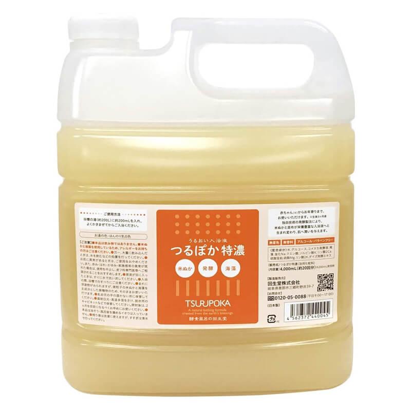 酵素入浴剤 つるぽか特濃 4L 回生堂株式会社