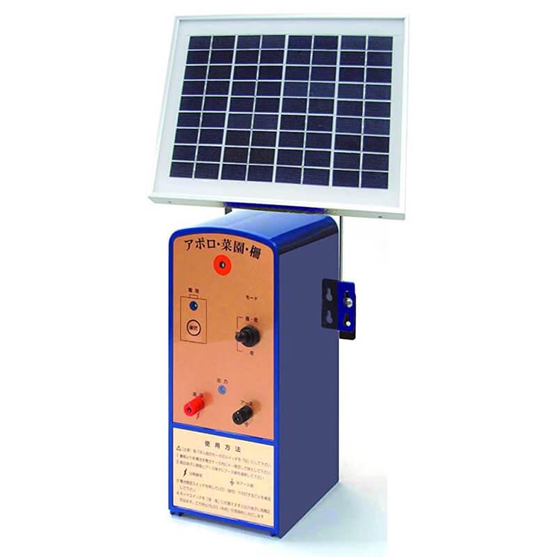 ソーラー式電気柵セット 100m×2段張り SP-2013SR アポロ APOLLO