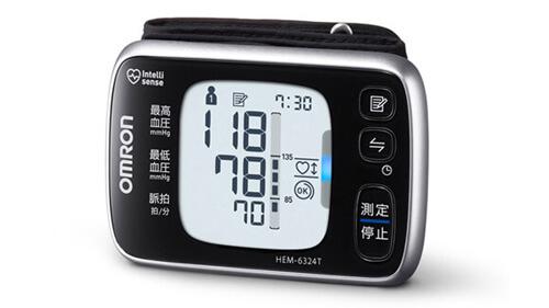 手首式血圧計 血圧値のレベル表示